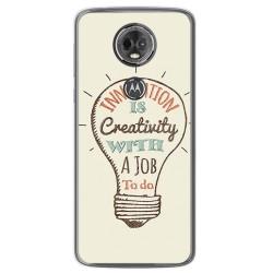 Funda Gel Tpu para Motorola Moto E5 Plus Diseño Creativity Dibujos