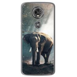 Funda Gel Tpu para Motorola Moto E5 Plus Diseño Elefante Dibujos