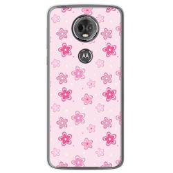 Funda Gel Tpu para Motorola Moto E5 Plus Diseño Flores Dibujos