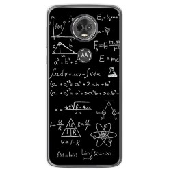 Funda Gel Tpu para Motorola Moto E5 Plus Diseño Formulas Dibujos