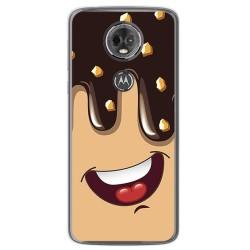 Funda Gel Tpu para Motorola Moto E5 Plus Diseño Helado Chocolate Dibujos