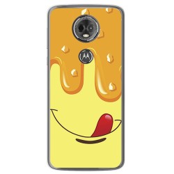 Funda Gel Tpu para Motorola Moto E5 Plus Diseño Helado Vainilla Dibujos