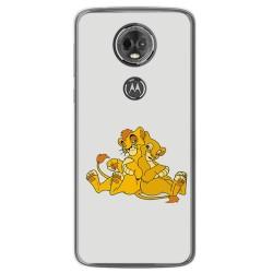 Funda Gel Tpu para Motorola Moto E5 Plus Diseño Leones Dibujos