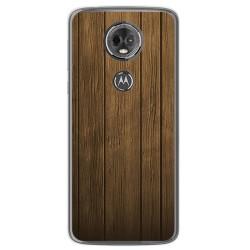 Funda Gel Tpu para Motorola Moto E5 Plus Diseño Madera Dibujos