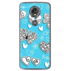 Funda Gel Tpu para Motorola Moto E5 Plus Diseño Mariposas Dibujos