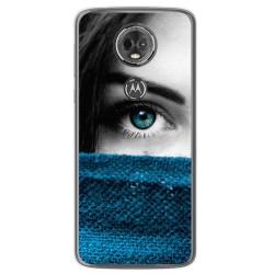 Funda Gel Tpu para Motorola Moto E5 Plus Diseño Ojo Dibujos