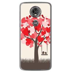 Funda Gel Tpu para Motorola Moto E5 Plus Diseño Pajaritos Dibujos