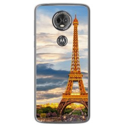 Funda Gel Tpu para Motorola Moto E5 Plus Diseño Paris Dibujos