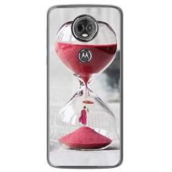 Funda Gel Tpu para Motorola Moto E5 Plus Diseño Reloj Dibujos