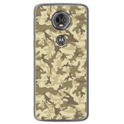 Funda Gel Tpu para Motorola Moto E5 Plus Diseño Sand Camuflaje Dibujos