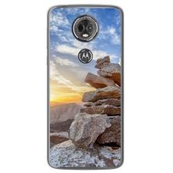 Funda Gel Tpu para Motorola Moto E5 Plus Diseño Sunset Dibujos