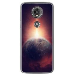 Funda Gel Tpu para Motorola Moto E5 Plus Diseño Tierra Dibujos