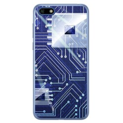 Funda Gel Tpu para Huawei Honor 7S / Y5 2018 Diseño Circuito Dibujos
