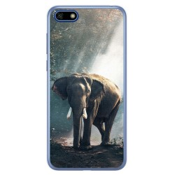 Funda Gel Tpu para Huawei Honor 7S / Y5 2018 Diseño Elefante Dibujos