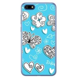 Funda Gel Tpu para Huawei Honor 7S / Y5 2018 Diseño Mariposas Dibujos