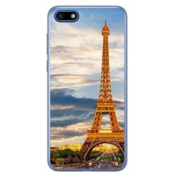 Funda Gel Tpu para Huawei Honor 7S / Y5 2018 Diseño Paris Dibujos