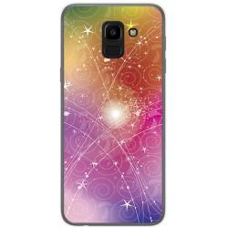 Funda Gel Tpu para Samsung Galaxy J6 (2018) Diseño Abstracto Dibujos