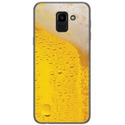 Funda Gel Tpu para Samsung Galaxy J6 (2018) Diseño Cerveza Dibujos