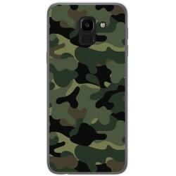 Funda Gel Tpu para Samsung Galaxy J6 (2018) Diseño Camuflaje Dibujos