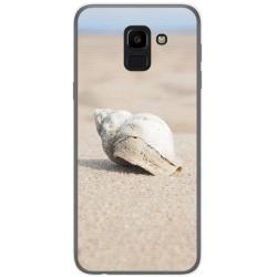 Funda Gel Tpu para Samsung Galaxy J6 (2018) Diseño Concha Dibujos