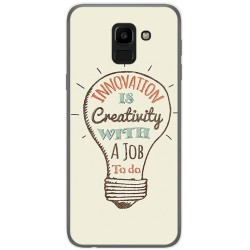 Funda Gel Tpu para Samsung Galaxy J6 (2018) Diseño Creativity Dibujos