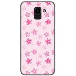 Funda Gel Tpu para Samsung Galaxy J6 (2018) Diseño Flores Dibujos