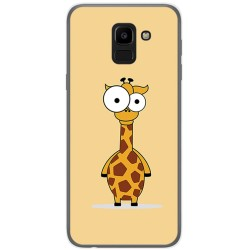 Funda Gel Tpu para Samsung Galaxy J6 (2018) Diseño Jirafa Dibujos