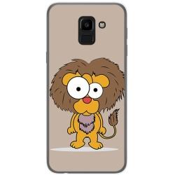 Funda Gel Tpu para Samsung Galaxy J6 (2018) Diseño Leon Dibujos