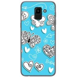 Funda Gel Tpu para Samsung Galaxy J6 (2018) Diseño Mariposas Dibujos