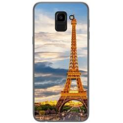 Funda Gel Tpu para Samsung Galaxy J6 (2018) Diseño Paris Dibujos