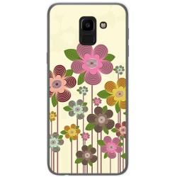 Funda Gel Tpu para Samsung Galaxy J6 (2018) Diseño Primavera En Flor Dibujos