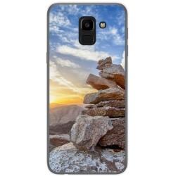 Funda Gel Tpu para Samsung Galaxy J6 (2018) Diseño Sunset Dibujos