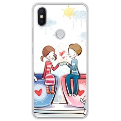 Funda Gel Tpu para Xiaomi Redmi S2 Diseño Cafe Dibujos