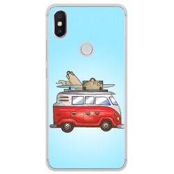 Funda Gel Tpu para Xiaomi Redmi S2 Diseño Furgoneta Dibujos