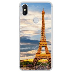Funda Gel Tpu para Xiaomi Redmi S2 Diseño Paris Dibujos