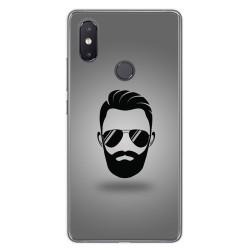 Funda Gel Tpu para Xiaomi Mi 8 Se Diseño Barba Dibujos