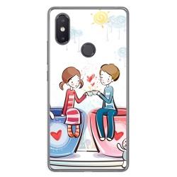 Funda Gel Tpu para Xiaomi Mi 8 Se Diseño Cafe Dibujos
