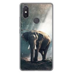 Funda Gel Tpu para Xiaomi Mi 8 Se Diseño Elefante Dibujos