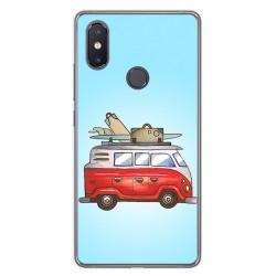 Funda Gel Tpu para Xiaomi Mi 8 Se Diseño Furgoneta Dibujos
