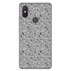 Funda Gel Tpu para Xiaomi Mi 8 Se Diseño Letras Dibujos