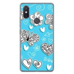 Funda Gel Tpu para Xiaomi Mi 8 Se Diseño Mariposas Dibujos