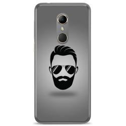 Funda Gel Tpu para Vodafone Smart N9 Diseño Barba Dibujos