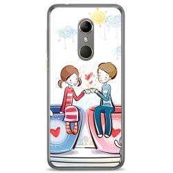 Funda Gel Tpu para Vodafone Smart N9 Diseño Cafe Dibujos