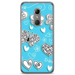 Funda Gel Tpu para Vodafone Smart N9 Diseño Mariposas Dibujos