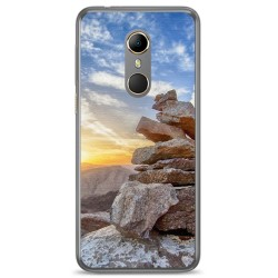 Funda Gel Tpu para Vodafone Smart N9 Diseño Sunset Dibujos