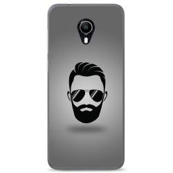 Funda Gel Tpu para Vodafone Smart N9 Lite Diseño Barba Dibujos
