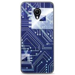 Funda Gel Tpu para Vodafone Smart N9 Lite Diseño Circuito Dibujos