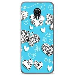 Funda Gel Tpu para Vodafone Smart N9 Lite Diseño Mariposas Dibujos