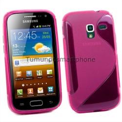 Funda Gel Tpu Galaxy Ace 2 I8160 S Line Color Rosa