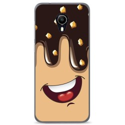 Funda Gel Tpu para Vodafone Smart N9 Lite Diseño Helado Chocolate Dibujos